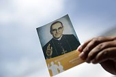 Thousands of Catholic faithful from various nationalities participate in the ceremony celebrating the beatification of martyr archbishop Oscar Romero...
