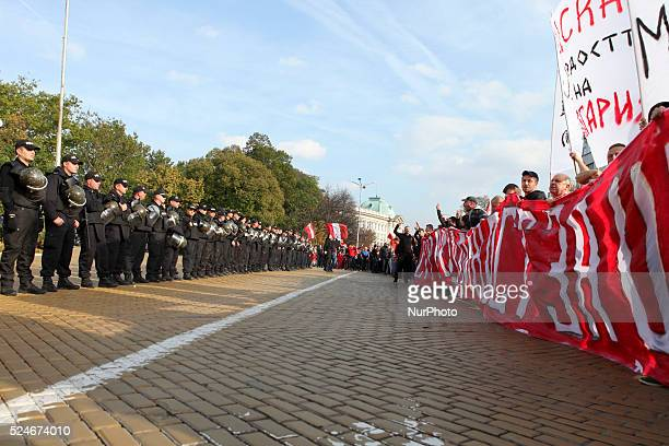 Thousands of CSKA Sofia supporters flooded streets of Sofia Bulgaria during a protest against what they called quotgenocidequot against the sports...
