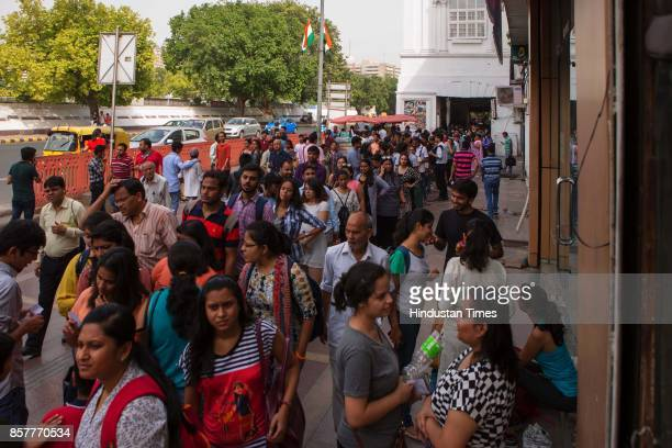 Thousands of Delhiites turned up for the muchawaited Human Library event at Connaught Place on June 18 2017 in New Delhi India At the event people...