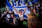 Thousands of demonstrators take part in an antigovernment protest in Rabin Square on March 7 2015 in Tel Aviv Israel The demonstration was attended...