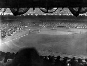Thousands of fans watched the New York Yankees defeat the New York Giants in the first game of the 1937 World Series at Yankee Stadium New York New...