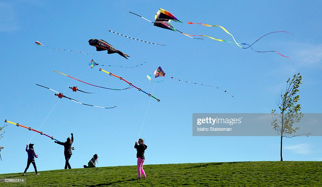 Thousands of kite flyers harness the wind and touch the sky with a piece of string on Saturday, April 30, 2016, at the Treasure Valley Kite Festival at Kleiner Memorial Park in Meridian, Idaho.