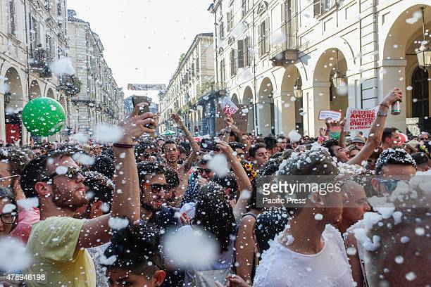 Thousands of LesbianGayBisexual and Transgenders join in the Turin Pride 2015 march for their rights wherein this years' slogan goes 'Pride and...