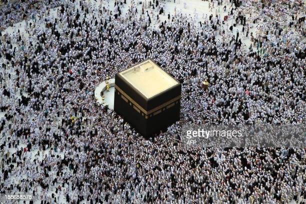 Thousands of Muslims gather at the Grand Mosque in Islam's holiest city of Mecca and home to the Qabba on September 4 as Muslims perform the Umrah or...