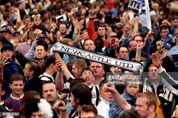 Thousands of Newcastle United fans turn out to greet Alan Shearer at St James's Park in Newcastle