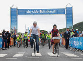 Thousands of participants joined six times gold medallist Sir Chris Hoy and radio presenter Edith Bowman for the first ever Sky Ride Edinburgh today...
