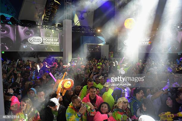 Thousands of partygoers enjoy the festivities at Bud Light House of Whatever the ultimate #UpForWhatever experience featuring three days of parties...