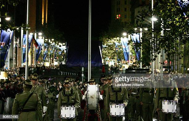 Thousands of people attend the Anzac Dawn Service at Martin Place on April 25 2008 in Sydney Australia ANZAC stands for Australian and New Zealand...