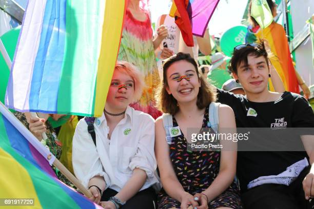 Thousands of people from across Poland and Europe took part in the Warsaw Pride parade also known as the 'Equality Parade' People marched in Warsaw...