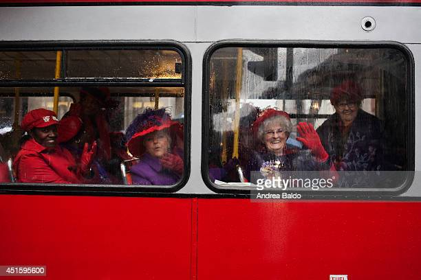 Thousands of people have been taking part in London's traditional New Year's Day parade in which this year celebrates the swinging 60s The...