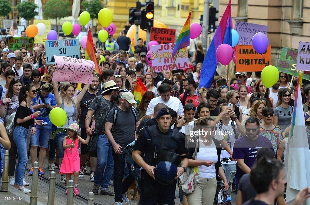 Zagreb Gay Pride Parade In