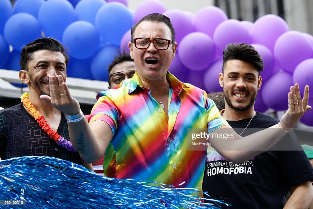 Thousands of people participate in the 20th Gay Pride Parade, on Avenida Paulista in São Paulo (SP), Brazil. May 29, 2016.