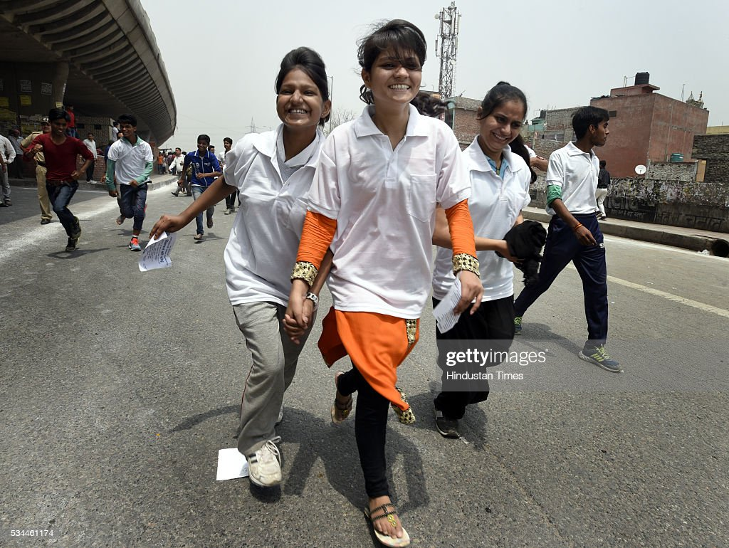 Thousands of people participated in Run for Development celebrating achievements of two years of Modi-led government from Khajoori Chowk to Bhajan Pura, on May 26, 2016 in New, India.
