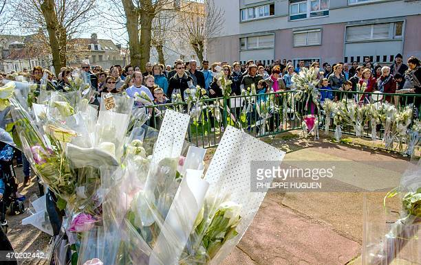 Thousands of people pay their respect on April 18 2015 to nineyearoldgirl Chloe who was raped and killed by a 38yearold Polish man on April 15 as...