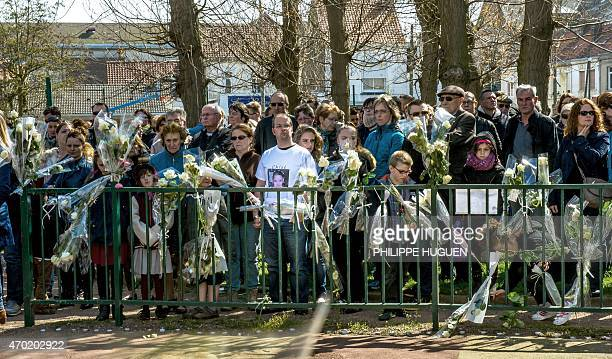 Thousands of people pay their respect on April 18 2015 to nineyearoldgirl Chloe who was raped and killed by a 38yearold Polish man on April 15 at the...