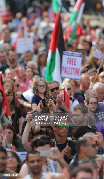 Thousands of protestors take to the streets of Dublin to express their opposition to the ongoing military action in Gaza