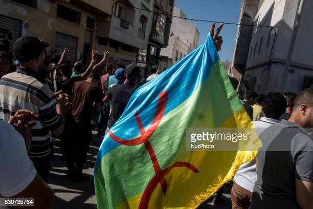 Thousands of Riffian people gathered durint a demonstrating peacefully in the streets of Al Hoceima Morocco on 20 July 2017 to claim the freedom the...