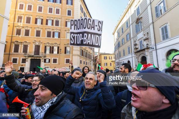 Thousands of street vendors and taxi drivers take part in a rally in front of the Parliament to protest against the socalled Bolkestein directive The...