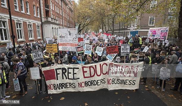 Thousands of students gathering in central London on to protest the government over tuition fees and plans by the UK government to put an end to...