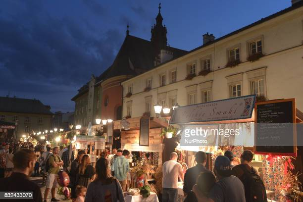 Thousands of tourists locals and 'Pierogi' lovers attended the 15th Annual Pierogi Festival in Krakow where local restaurateurs competed from 11th to...