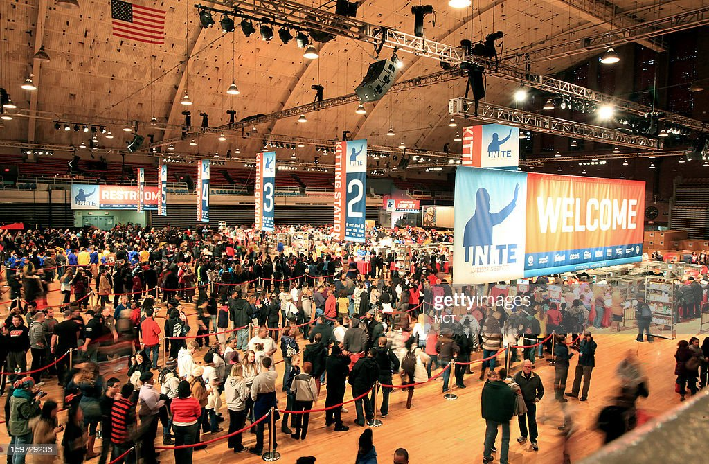 Thousands of volunteers danced and assembled nearly 100,000 care kits filled with necessities for deployed U.S. service members, Wounded Warriors, veterans and first responders, during the MLK National Day of Service at the Washington Armory in Washington, D.C, Saturday, January 19, 2013. The service project was part of the 57th Presidential Inauguration.