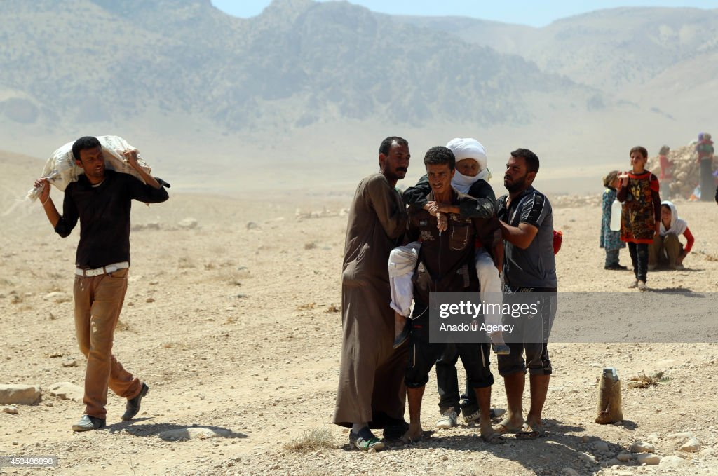 Thousands of Yezidis trapped in the Sinjar mountains without food and water for days as they tried to escape from Islamic State (IS) forces, are rescued by Kurdish Peshmerga forces and Peoples Protection Unit (YPG) in Mosul, Iraq on August 10, 2014.