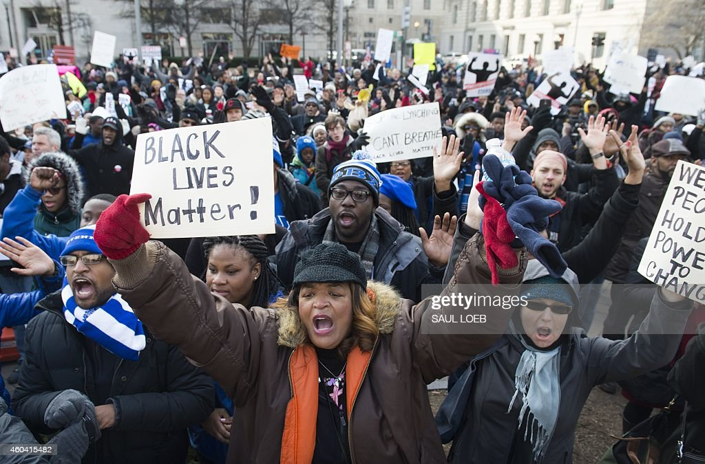 Thousands take part in the Justice for All March and Rally on Pennsylvania Avenue to the US Capitol in Washington DC on December 13 to protest the...