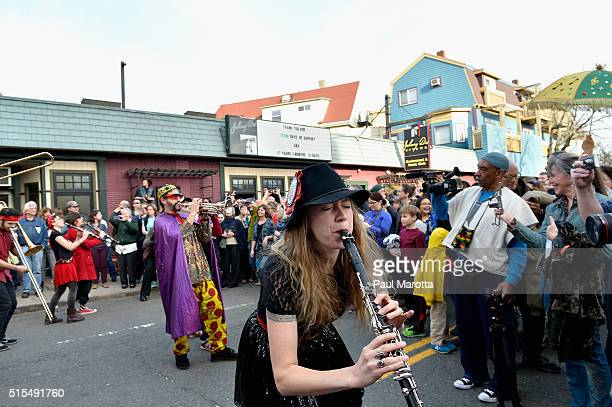 Thousands turned out for a Second Line Parade through Somerville's Davis Square as Historic Blues Club Johnny D's Uptown Restaurant and Music Club...