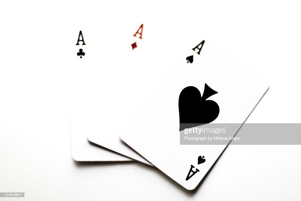 Three aces : Stock Photo