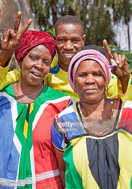 Three African Soccer Supporters