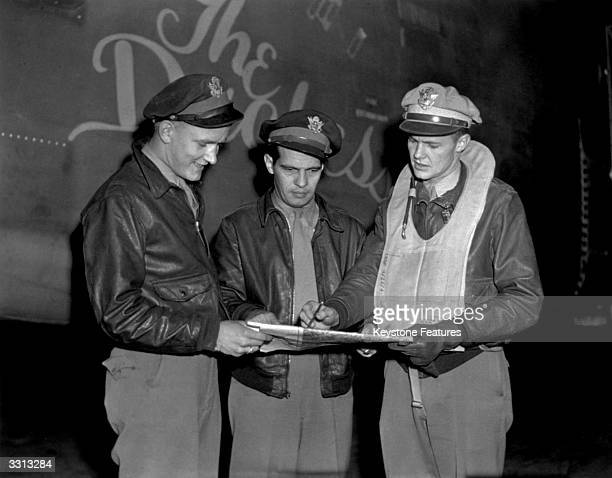 Three American pilots combat personnel involved in many bombing missions with the socalled 'Travelling Circus'