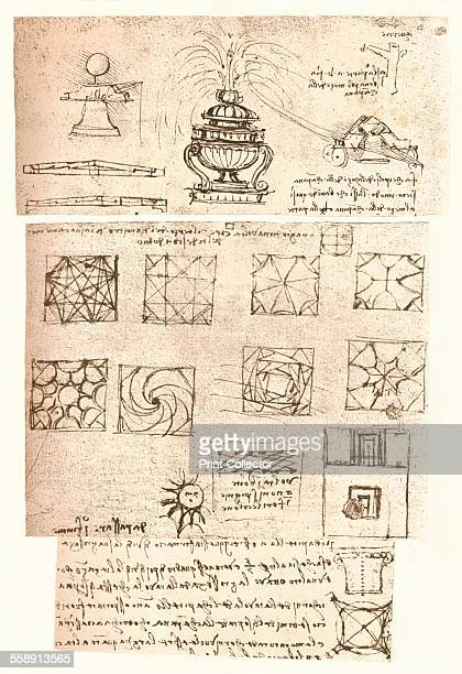Three architectural drawings c1472c1519 From The Literary Works of Leonardo Da Vinci Vol II by Jean Paul Richter PH DR [Sampson Low Marston Searle...