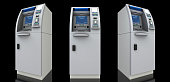 ATM, Security Camera, Currency, Safe, Box - Containeri, Security System, Paper Currency, Credit Card, Manufactured Object, Computer Monitor, Equipment, Bank Account, 3D, Button, Financial Figures, Num
