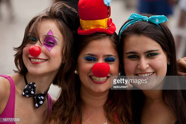 Three attractive young women at Carnival in Rio