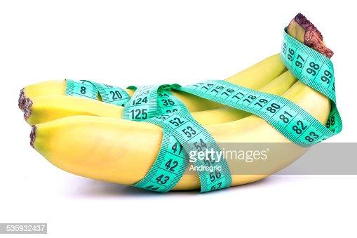 Three bananas and meter : Stock Photo