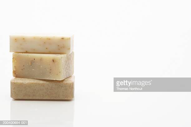 Three bars of almond soap