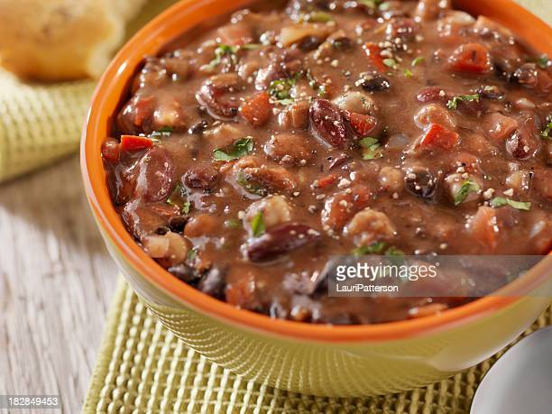 Three Bean Soup with Crusty Bread