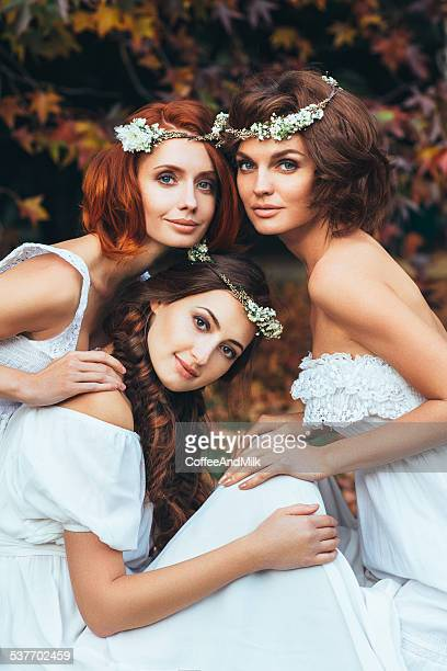Three beautiful bride