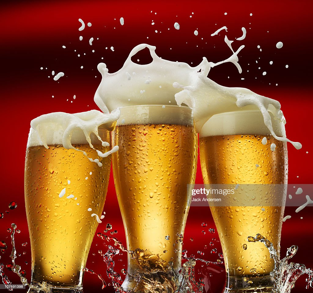Three Beer Glasses