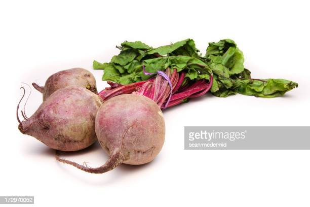 Three Beets on White