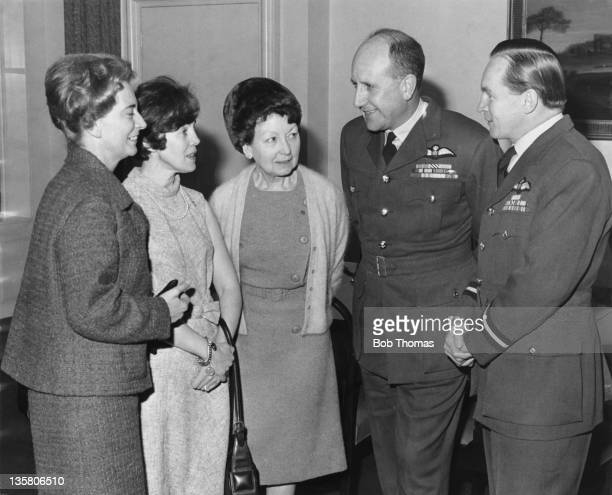 Three Belgian ladies visit the Ministry of Defence in London as guests of the Royal Air Forces Escaping Society 6th January 1967 During World War II...