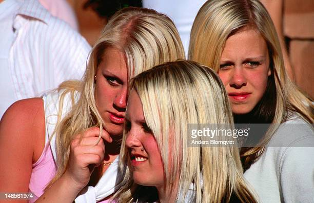 Three blond girls.