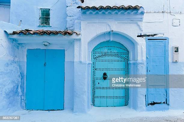 Three blue doors - Chefchaouen