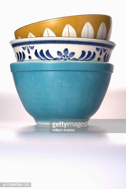 Three bowls stacked together, studio shot