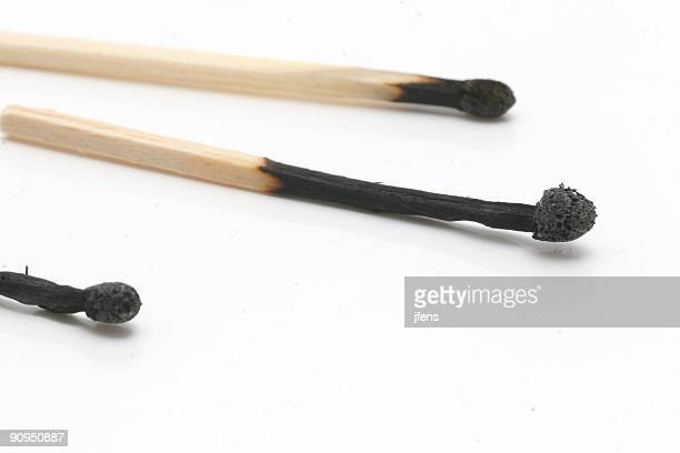 Three burned matches