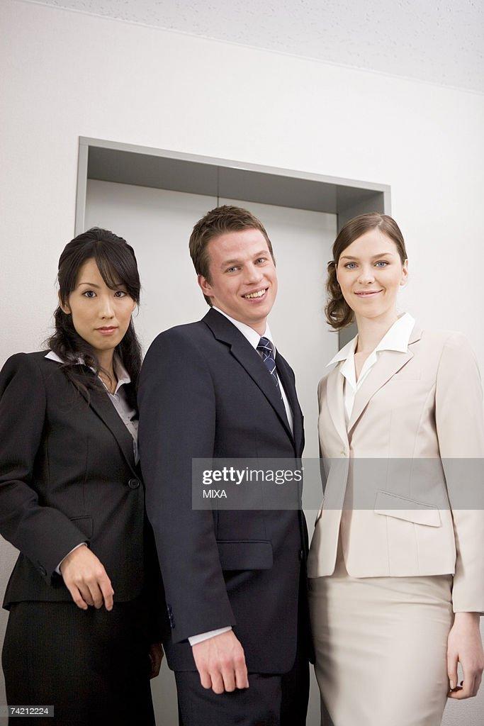 Three business people : Stock Photo