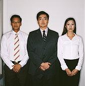 Three businesspeople