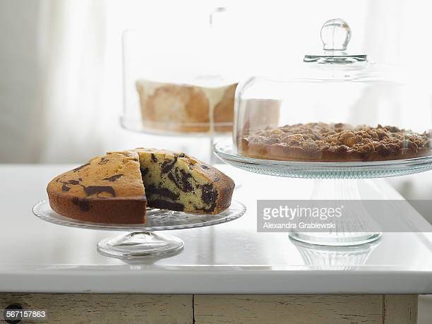 Three Cakes on Stands