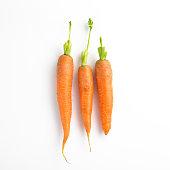Three carrots in a row