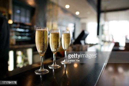 Three champagnes